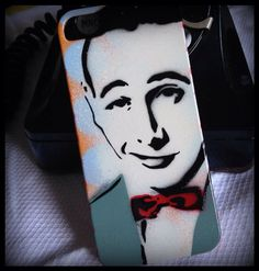 iPhone 5 Case Cover Graffiti Art Hand Painted Original Pop Art Painting Pee Wee on Etsy, $18.00