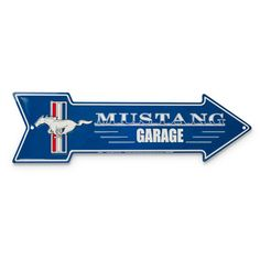 """Ford Mustang Parking Only Mechanics Garage Decorative Metal Sign 8/"""" x 12/"""""""