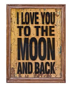 Look what I found on #zulily! 'To the Moon' Wall Art #zulilyfinds
