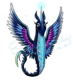 Legendary by bitsyart on DeviantArt  #closedspecies #oc #wings #crystal #magic #ice #art