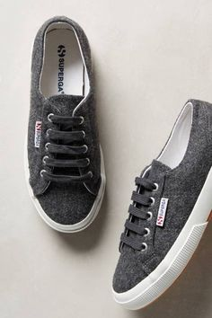 Wool Sneakers by Superga #anthroregistry