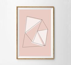 Minimalist Geometric Abstract Wall Art Print by alphonnsine