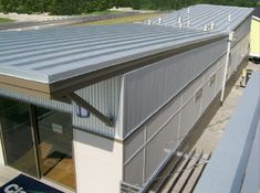 metal butterfly roof with rain water collection