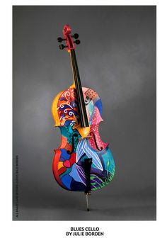 Painted Violins by Julie Borden