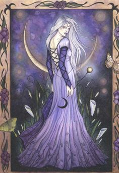Fairy Art and Fantasy Art Prints Gallery Goddess Art, Moon Goddess, Fantasy Kunst, Fantasy Art, Fantasy Women, Religion Wicca, Illustration Fantasy, Dragons, Amy Brown Fairies