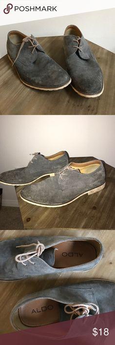 Men's Aldo shoe Ash blue men's Aldo shoe. Size 10 1/2. Worn but good condition. Needs a clean. Aldo Shoes
