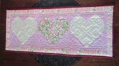 Country Cottage Quilted Heart Table Runner by seamssewprecious, $40.00