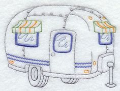Home on the Road Camper-This would be so cute done in quilling!