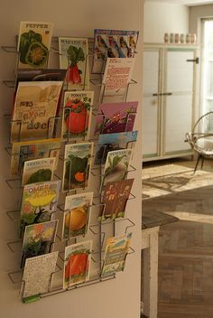 Love the way this postcard collection is displayed.