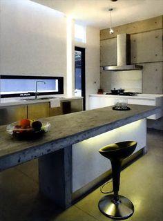 Sleek modern kitchen with fantastic lighting
