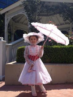 Jolly Holiday KIDS Mary Poppins Custom Made Costume with Red Satin Corset and Pink Petticoat Child sizes 2-14