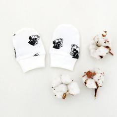 Items similar to Boxer Dog Organic Cotton Newborn Scratch Mittens, Baby Mittens, Organic Newborn Hospital Mittens, Baby Announcement, Pregnancy Gift on Etsy Baby Mittens, Pregnancy Gifts, Boxer Dogs, Baby Wearing, Organic Cotton, Kids Shop, Unique, Creative, Etsy