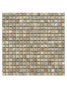 Philadelphia Scabos Travertine x Square Tumbled Mesh Mounted Mosaic Tile