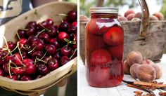 Annabel Langbein's fresh cherries and bottled peaches - delicious! Kiwi Recipes, Canning Recipes, Salts, Creative Food, Cherries, Peaches, Homemade Gifts, Preserves, Vinegar