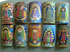 tejas decoradas - Buscar con Google Country Paintings, Country Art, Clay Crafts, Cool Kids, Decoupage, Christmas Cards, Fun, Utensils, Tutorials