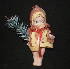 Original Rose O'Neill Bisque Kewpie Original Crate Paper Christmas Outfit
