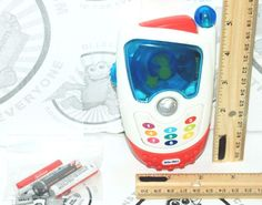 TOY PHONE - LITTLE TIKES DISCOVERY PRETEND PLAY CAMERA SOUND & LIGHT USED  #LittleTikes
