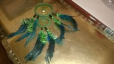 Amazon Green Dream Catcher features 2 by DreamCatcherMan on Etsy