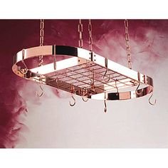 a copper pot rack Hmmm. Papa 🐻 Maybe Santa could bring me a new one. Pretty please! Kitchen Utensils, Kitchen Tools, Kitchen Gadgets, Kitchen Furniture, Cool Furniture, Pot Rack Hanging, Pot Racks, Irish Cottage, Copper Pots
