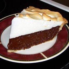 Receitas - Tarte de chocolate com merengue - Petiscos.com