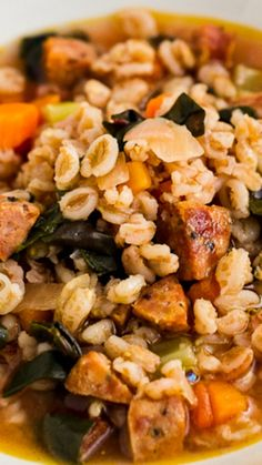 Farro Soup with Red Chard and Sausage Recipe