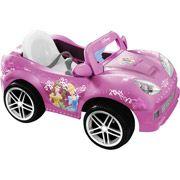 Disney Princess Girls' Convertible Car 6-Volt Battery-Powered Ride-On