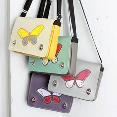 The whole gang's here. We're 😍 with the new Butterfly on the Auxiliary Jr mini crossbody. Jr, Butterfly, Mini, Bags, Handbags, Butterflies, Bag, Totes, Hand Bags