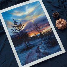 WEBSTA @ watercolor.blog -  Watercolorist: @pam9tka#waterblog #акварель #aquarelle #painting #drawing #art #artist #artwork #painting #illustration #watercolor #aquarela