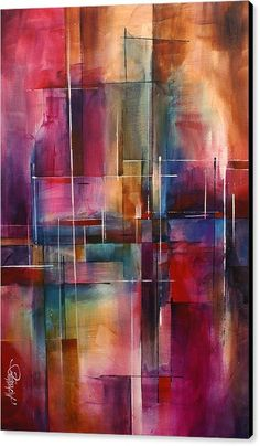 Abstract Canvas Print featuring the painting ' City Limits ' by Michael Lang