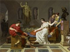 Cleopatra and Octavian are one of the most famous sets of enemies in history. The lover and the adopted son of Gaius Julius Caesar both created monumental chapters in the history of ancient Egypt and Ancient Egypt History, Ancient Rome, Canvas Art Prints, Oil On Canvas, Battle Of Actium, Google Art Project, Julius Caesar, Ouvrages D'art, Classical Art