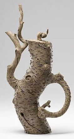 sculpture, China, An Ah Leon, (Born 1953), China, stoneware teapot [and cover], [bonsai tree with branches sculpture], 2002. Ah Leon...