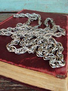 28.99 Vintage Long Chain Necklace 1960s Antique by primitivepincushion