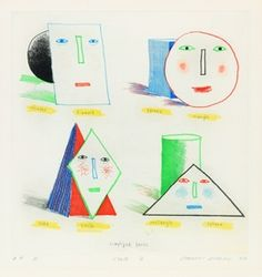 David Hockney, 'Simplified Faces State II,' 1973, The San Francisco Gallery