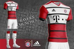 4762339e96e These Adidas FC Bayern Munich concept kits are outstanding. Volleyball  Jerseys, Soccer Shirts,