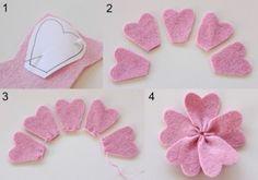 3 maneras de hacer flores con fieltro reciclado paso a paso (5)