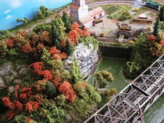 "N Scale Model Train Layout ""October Heartland"" 