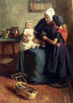 The New Doll, by Hendrik Maarten Krabbe (1868 – 1931, Dutch)