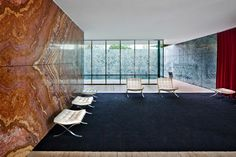 Barcelona Pavilion by Mies van der Rohe Architecture Tumblr, Modern Architecture, Van Interior, Interior And Exterior, Interior Design, Bauhaus, Ludwig Mies Van Der Rohe, City Wallpaper, Interesting Buildings