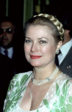 Princess Grace not too many years before she died of a stroke while driving her car,  resulting in a tragic automobile accident.