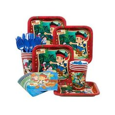 Jake And The Neverland Pirates Standard Kit  Serves 8 Guests Walmart 7.99