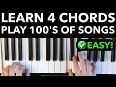 Today you're going to learn 4 simple chords you can use to play hundreds of famous songs on piano and at the same time work on your improv skills. Piano Songs For Beginners, Learn Piano Beginner, Easy Piano Songs, Music Chords, Piano Music, Sheet Music, Piano Cords, Piano Teaching, Learning Piano