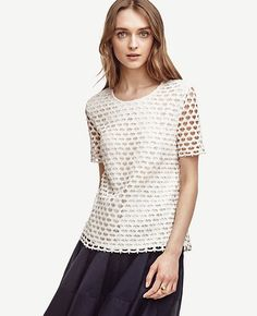 Image of Scalloped Lace Tee