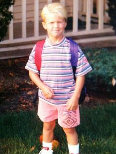 Clay Matthews, when he was a kid:) he was such a cutie pie! And now he's hottie pie lol.
