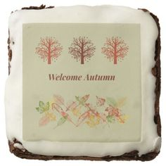 Welcome Autumn Leaves and Trees Brownies - kitchen gifts diy ideas decor special unique individual customized