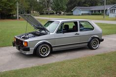 SIlver Mk1 GTI with Fifteen52 modern snowflakes