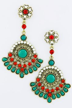 Boho Salome Statement Earrings on Emma Stine Limited