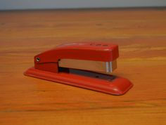 Vintage Swingline Cub stapler red industrial office accessories by MaAndPasAttic on Etsy