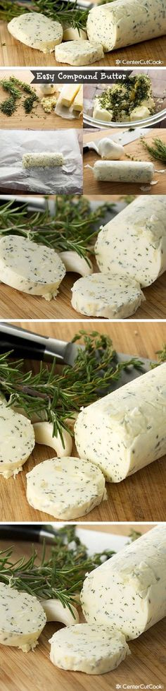 Compound Butter {for Steak,Turkey & More}! An easy COMPOUND BUTTER recipe with garlic and herbs that is perfect for steak, corn, chicken, turkey, or for bread! This is my secret to making the most delicious recipes that everyone raves about!