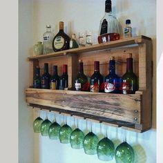European Style Wooden Frame Wall Wine Rack Shelf Wall Bottled Wine Rack Hanging Tall Glass Frame