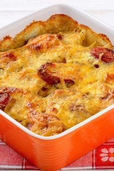 Cheesy Smoked Sausage and Potato Casserole Recipe